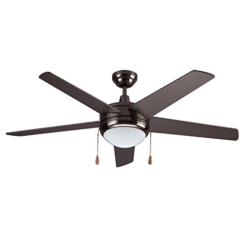 120v 15w Oil (LB92101 LED Ceiling Fan, 50-Inch 5 Blade, Oil Rubbed Bronze, 15W (65W equivalent), 3000K Warm White, 120° Beam Angle, 1000 Lumens, ETL & DLC Listed)