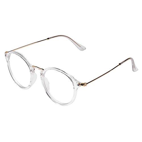 507bab0cc13f3 Forepin® Lunettes de Vue Rondes Unisex Cadre Frame Lentille Claire pour  Homme et Femme Vintage: Amazon.fr: High-tech