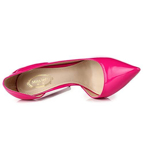 Boîte 5cm Stiletto De Pointu Dames Chaussures Rose Rosered8 Parti Sexy Hauts Nuit Bout Femmes Rouge Pompes Qscg Talons Court 80ONnmvw