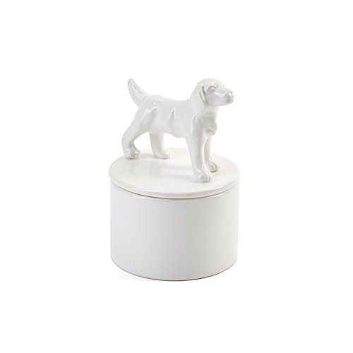 Labrador Dog Gift Box (Labrador Retriever White Ceramic Jewelry Box)