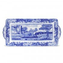 Earthenware Century 18th - Spode Blue Italian Sandwich Tray