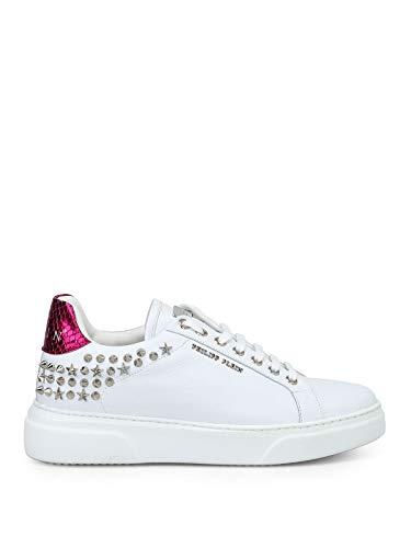 Donna Swsc0895ple075n01 Pelle Philipp Sneakers Plein Bianco dsrtChQ