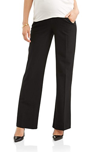 - Times Two Maternity Women's Flare Leg Dress Pants (Small, Black)