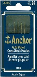 Anchor Threads Bulk Buy Gold Plated Tapestry Needles Size 24 4 Pack 14493-24 (10-Pack) by Anchor Threads