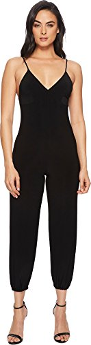 KAMALIKULTURE Women's Slip Jog Jumpsuit, Black, Medium by KAMALIKULTURE