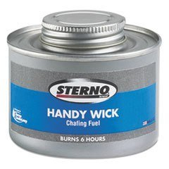 Sterno Handy Wick Chafing Fuel, Can, Methanol, Six-Hour Burn, 24/Carton ()