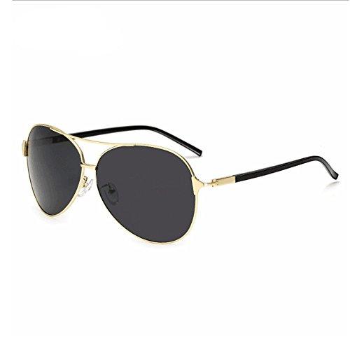 Gray Fashion Black Soleil Box à Aviator Color Lunettes pour Miroir Lunettes UV Soleil Gold Homme de Sakuldes 100 White polarisé Box de qw1a0x