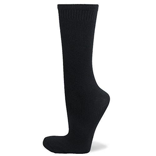 Couver Kids Youth Knee High Soccer Sock for Boy, Black, Age 5 - 7
