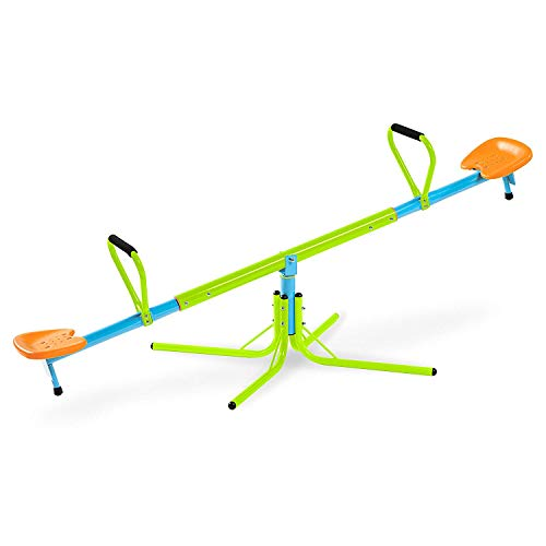 Price comparison product image Nova Microdermabrasion Kids Seesaw Swivel Teeter-Totter Home Playground Equipment,  360 Degrees Rotating Safe,  Outdoor Fun for Kids,  Toddlers,  Boys,  Children ( 1)