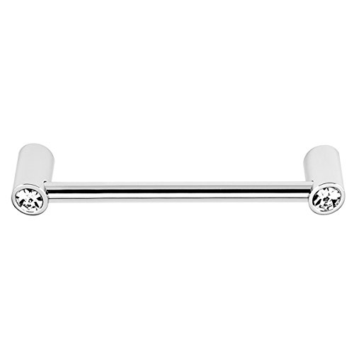 (Alno C715-6-PC Contemporary Crystal Modern Pulls, Polished Chrome)
