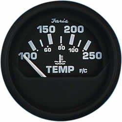 Faria 12812 Euro Water Temperature Gauge ()