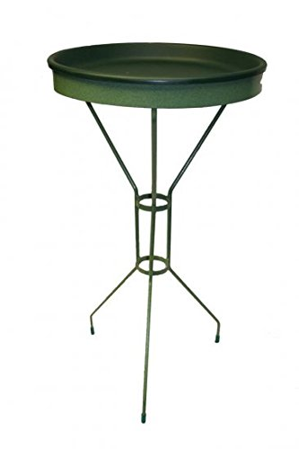Erva BA6G Bird Bath - Patio Stand44; Green by Erva
