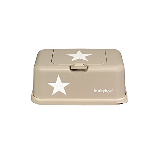 Funkybox Baby Wipes Box Star Motif Beige by Funky box by funkybox