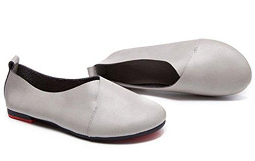 Kunsto Damen Echtleder Komforthandschuh Schuhe Ballerinas (bis zu 55% Rabatt) Grau