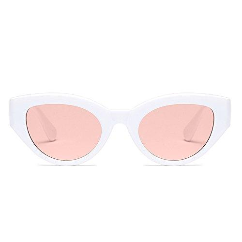 Rosa de Rosa de Mujer Rojo Blanco Negro Las Vintage Gafas Gato Blanco zonnebril Blanco Gafas de C4 Ojo Dames Sol Retro Zygeo AT9246 C6 FfB8Xw