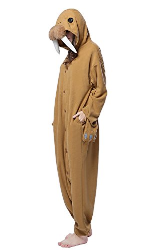 "NEWCOSPLAY Halloween Cartoon Cosplay Costumes Adult Unicorn Pajamas (M-For height 5'3""-5'6"", Walrus)"