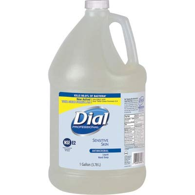 Dial Professional 82838 Liquid Dial Antimicrobial Soap for Sensitive Skin 1 Gallon (4-Pack)