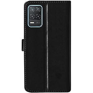 SBMS Leather Flip Cover for Realme 8 5G (Black)