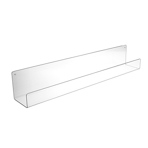 SOURCEONE.ORG Source One Premium Clear Acrylic Floating Wall Mount Shelves Perfect for Books, Magazines, Displaying Items. Pre Drilled (1, 36 -