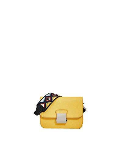 Bolsos Yy.f Flores De Color Caramelo Bolsa De Hombro Correa Para El Hombro Cartera Sra Piel De Becerro 3 Colores Yellow