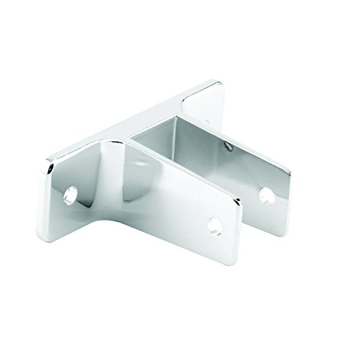 Sentry Supply 656-6350 Two Ear Wall Bracket, For 3/4 In. Panels, Zinc Alloy, Chrome Plated Finish, Pack of (Chrome Wall Bracket Finish)