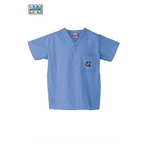 North Carolina Tar Heels Carolina Blue Scrubs Top:S