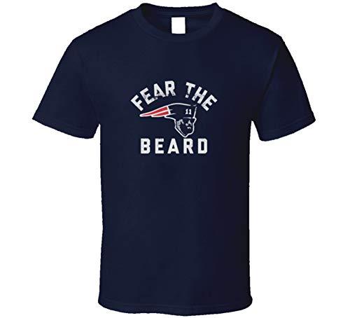 Julian Edelman Fear The Bear New England Football Champs T Shirt XL ()