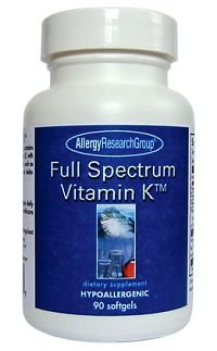 Allergy Research Group - spectre complet-vitamine-K-90-gélules par allergie-recherche-groupe