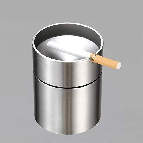 EUEMCH ステンレス製の車の灰皿無煙車のタバコの灰ホルダー