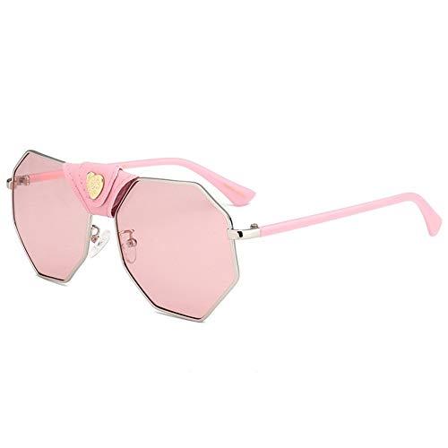 moda cuero hebilla personalidad gafas Gafas de irregulares de A sol sol amor NIFG de WXzRqc