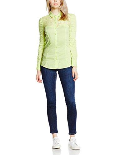 GUESS JEANS W52H08EK600 Camisa con las mangas largas Mujer Verde Claro