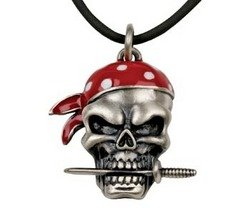 Pirate Dagger Pendant Collectible Medallion Necklace Accessory Jewelry