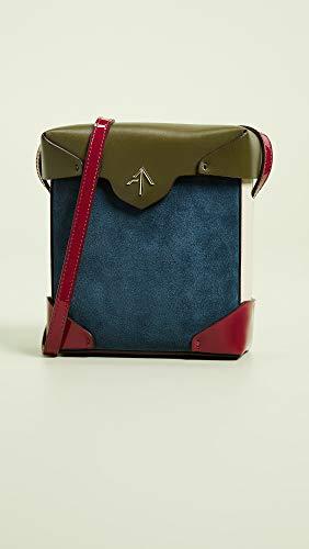 Pristine Women's Mini Pavone Box Beige Fuchsia Khaki Atelier Bag MANU 5Eqt5