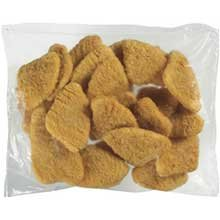 Tyson Red Label Golden Crispy Breaded Chicken Breast Patty, 5 Pound - 2 per case.