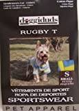 Vo-Toys Doggie Duds Rugby Striped Tee Cornflower Yellow Small