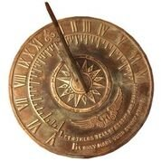 Brass Colonial Sundial Solid Brass with Patina Finish 9 inch diameter by Rome