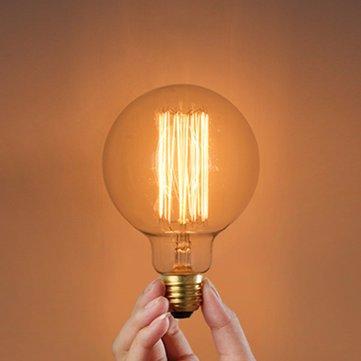 Led Light Bulbs - G80 Incandescent Bulb E27 40w 220v Globe Retro Edison Light Bulb - Globe Edison Light Bulbs Led Bulb 60w 2700k Round Single Large Vintage - (60w Single)