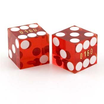 SHED DICE (Casino Dice Red Stick)