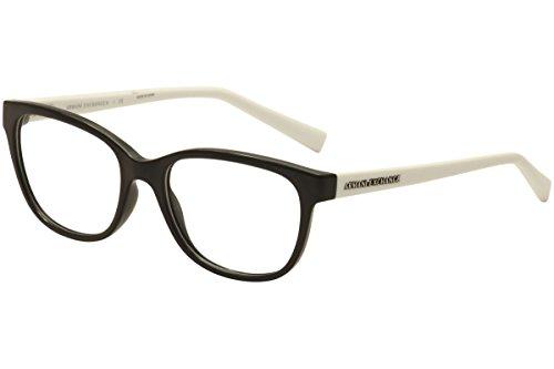 Armani Exchange AX3037 Eyeglasses 53-17-140 Black w/Clear Demo Lens 8204 AX 3037