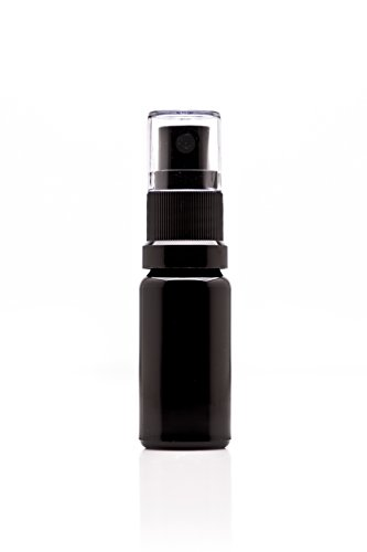Infinity Jars 10 Ml (.34 fl oz) Black Ultraviolet Glass Fine Mist Spray Bottle
