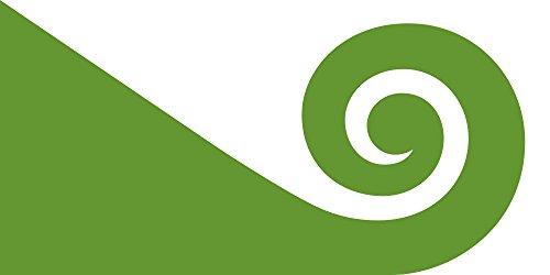 magFlags Large Flag NZ flag design Modern Hundertwasser by Tomas Cottle   Modern Hundertwasser The koru   landscape flag   1.35m²   14.5sqft -- 100% Made in Germany -- long lasting outdoor fl (Koru Design)