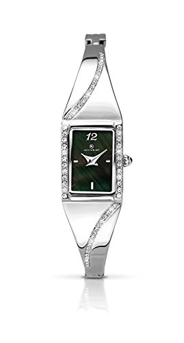 Accurist Ladies Watch With Black Mother of Pearl Dial 8022
