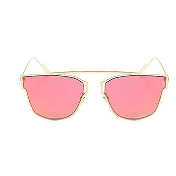 1428b1e8f3 Mylunn (TM)New Cat Eye Aviator Sunglasses Women Vintage Fashion Metal Frame  Mirror Sun