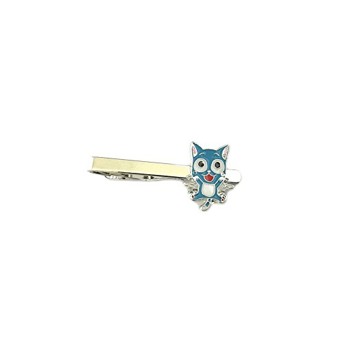 [Fairy Tail Happy Cat Silver Tone Anime Tie Bar w/Gift Box By Superheroes] (Dragon Ball Costume With Tail)