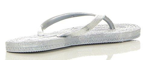 cleostyle Damen Badeschlappen Sandalen Badeschuhe Slipper CL 317 Grau