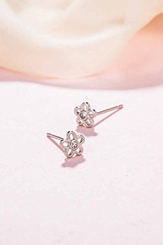 Generic flowers _of silver _925_ silver _with_cubic_zirconia_ silver earrings Earring eardrop ear Nail women girl _sweet_little hair Clip,_the ear jewelry
