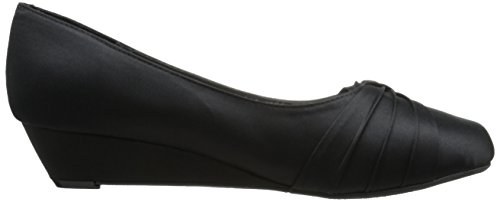 Women's Dyeables Black Dress Satin Pump Rue Inc Womens pwwPaAHx