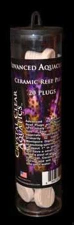 Crystal Clear Aquatics AAD00306 Ceramic Frag Plug Aquarium Decor, 20-Tube