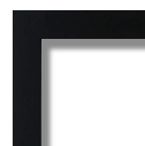 Mdf Picture Frames - US Art 24x32 Custom Satin Black Wrapped Finish Picture Poster Photo Frame Wood Composite MDF 1.25 inch Wide Moulding