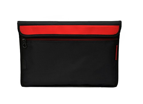 Saco Laptop Envelope Sleeve Bag Case Cover with Shoulder Strap for Dell Inspiron 11 3000 Netbook   11.6 inch   Red